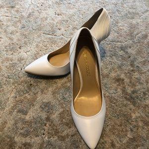 White Enzo Angiolini heels - new!